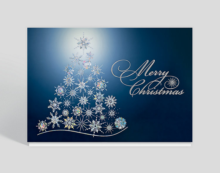 Environmentally friendly christmas cards and business holiday cards crystal snowflake tree christmas card m4hsunfo