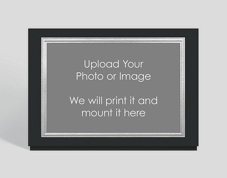 Silver Border on Black Custom Photo Mount Card - Horizontal , 302516 ...