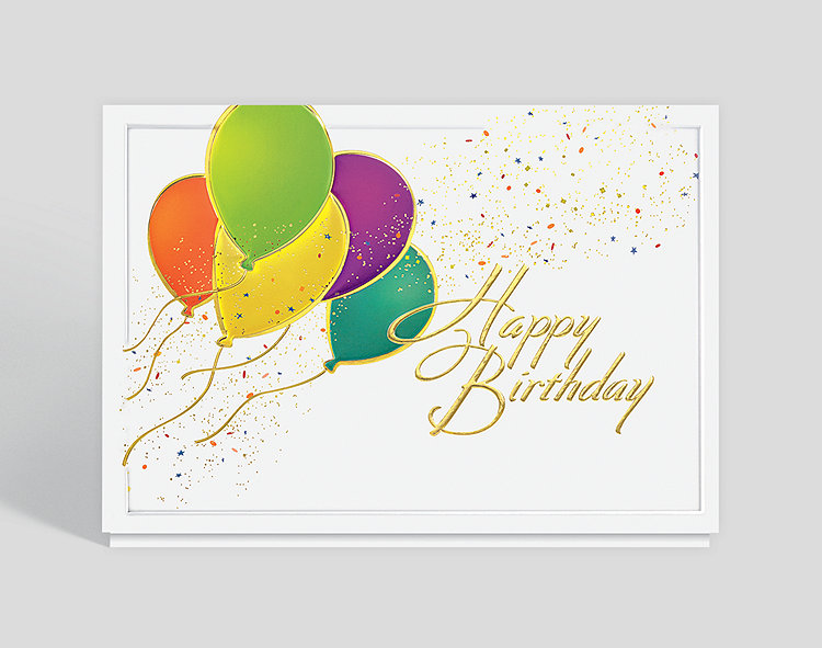 Balloons aloft birthday card 303248 business christmas cards balloons aloft birthday card click to view larger bookmarktalkfo Images