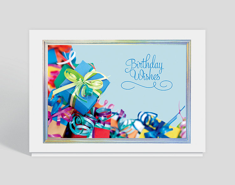 Best Wishes On Your Birthday Card 303433 Business Christmas Cards