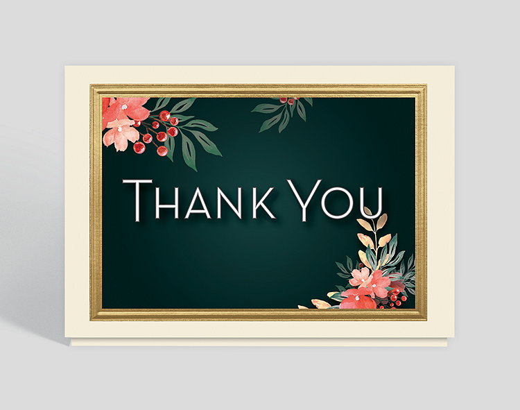 Thank You Blossoms Card