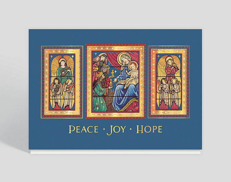 nativity triptych christmas card - Religious Christmas Cards