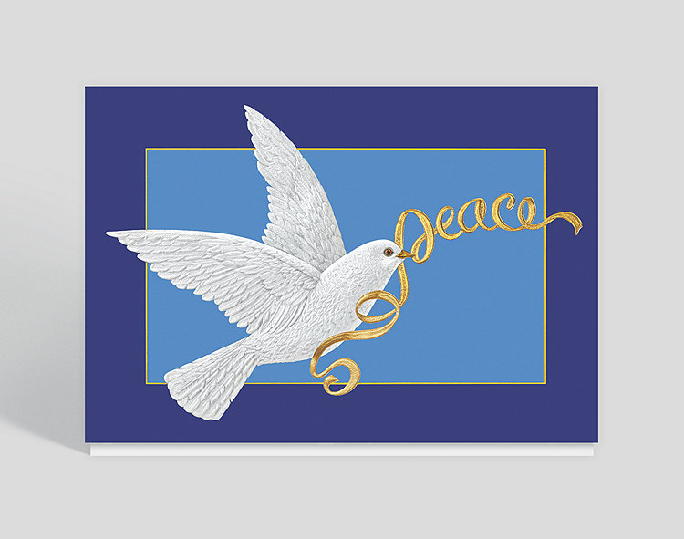Peace Ribbon Dove Holiday Card, 303562 - Business ...