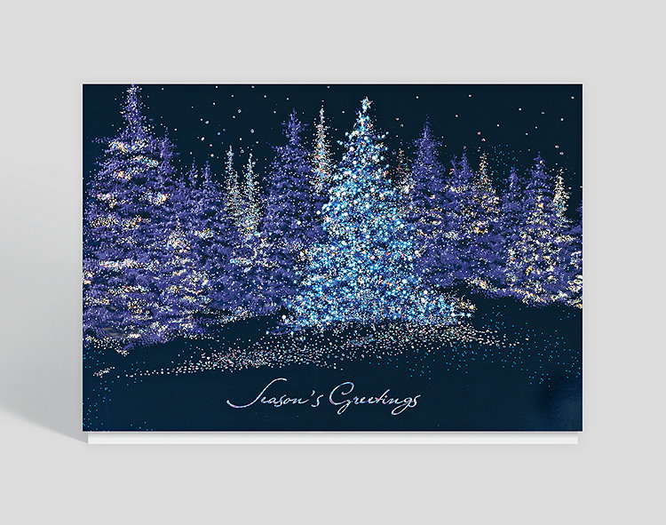 sparkling pines holiday card - Business Christmas Cards