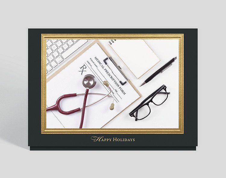 Doctor Who Christmas Cards.The Doctor Is In Holiday Card 303906 Business Christmas Cards