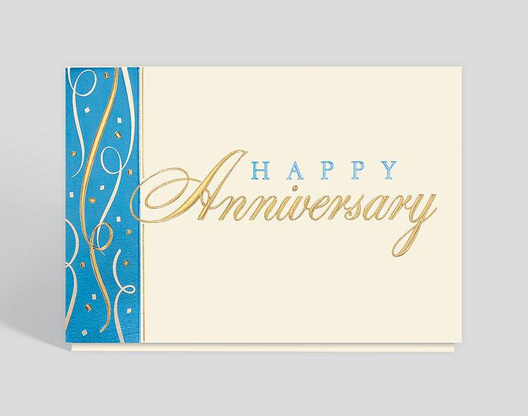 Anniversary Confetti Wishes Card