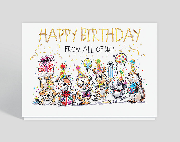Party Pets Birthday Card
