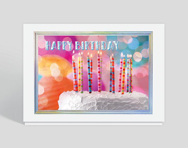 Calypso Candles Birthday Card
