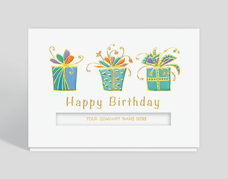Triple Birthday Wish Card Click To View Larger