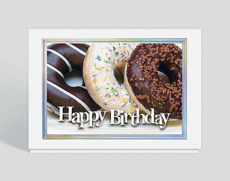 Triple Donut Birthday Card