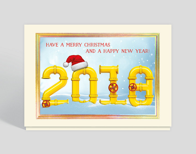 Industrial new year card 305091 business christmas cards click to view larger reheart Image collections
