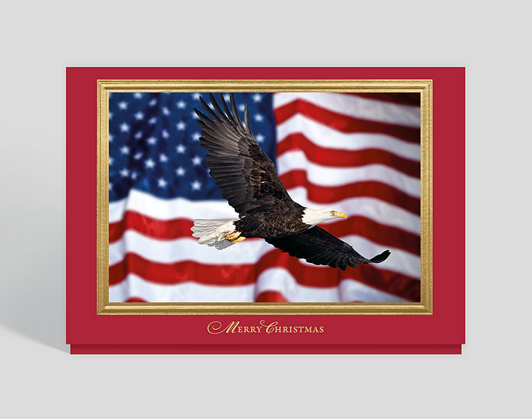 patriotic icons holiday card click to view larger