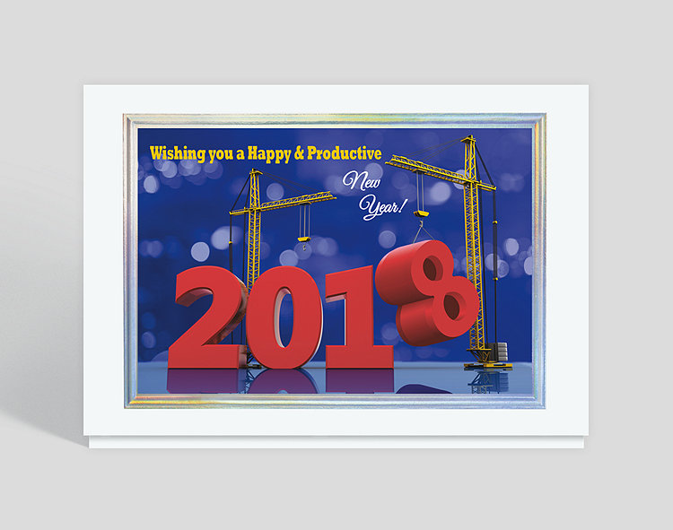 Constructing a happy new year card 305099 business christmas cards click to view larger reheart Image collections