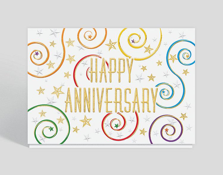 Starry Spirals Anniversary Card