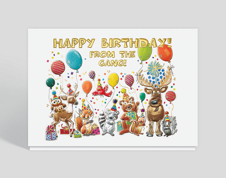 Forest Friends Birthday Card