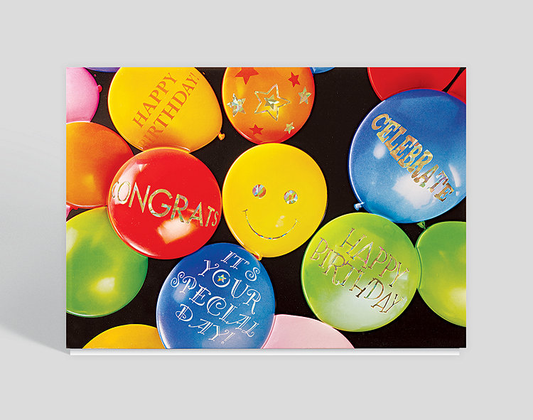 Balloon Array Birthday Card Click To View Larger