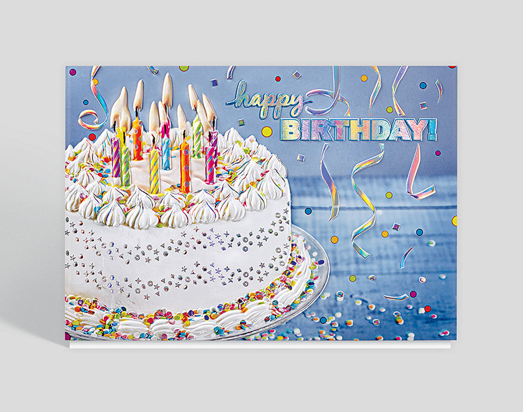 Confetti Birthday Splendor Card Click To View Larger