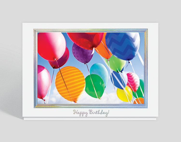 Balloons in the Sky Birthday Card