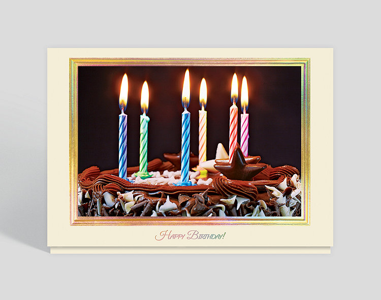 Chocolatey Birthday Cake Card