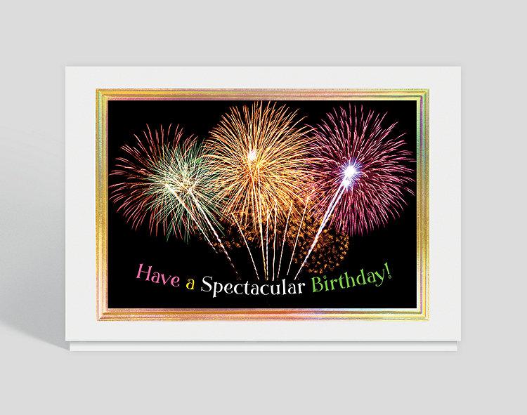 Spectacular Birthday Burst Card