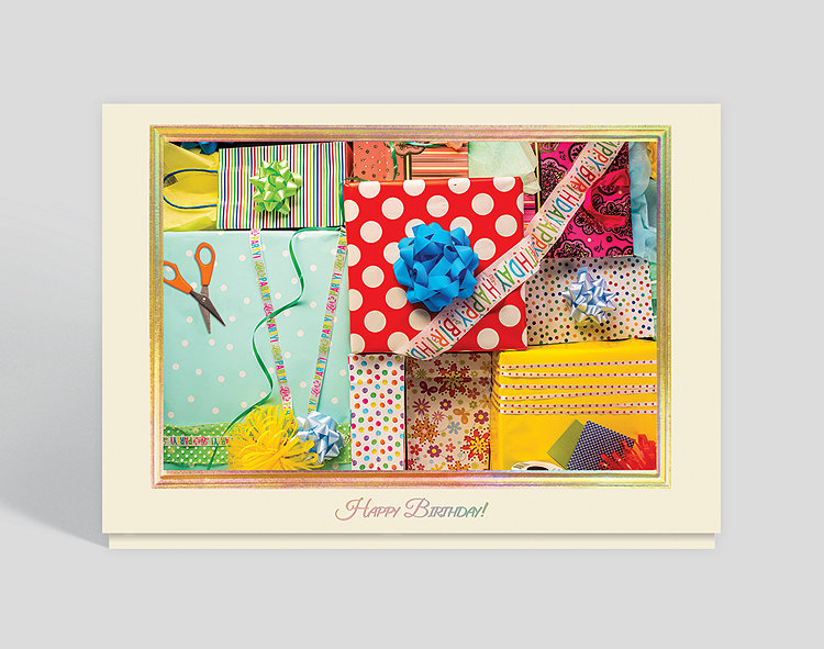 Birthday Wrappings Card