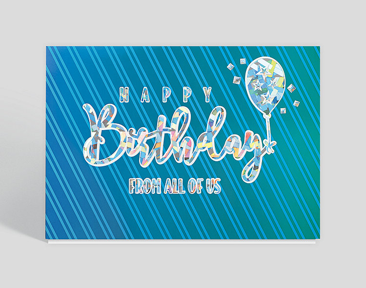 Striped Birthday Wishes Card