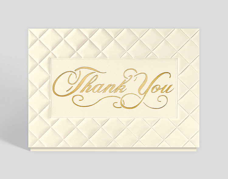 Classically Patterned Thank You Card