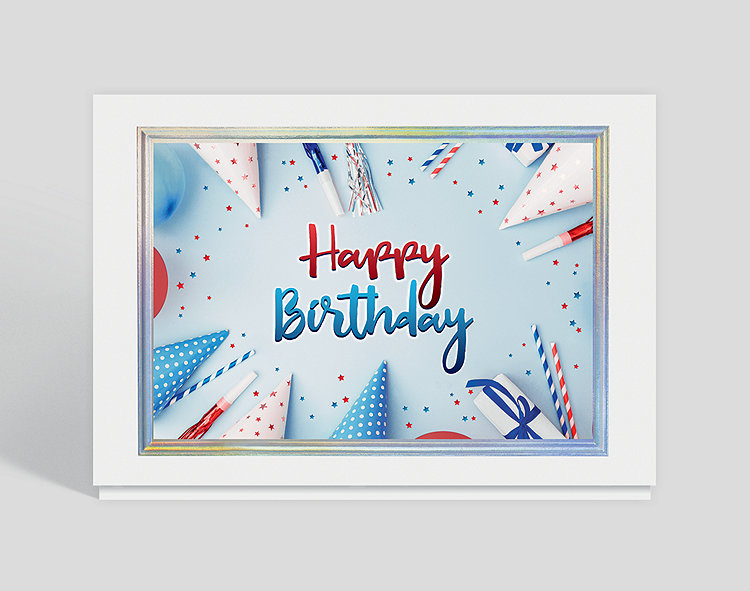 Happy Birthday Party Favors  Card