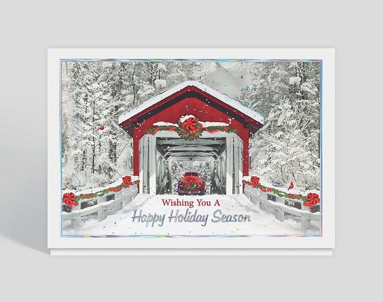 Holiday Covered Bridge Card