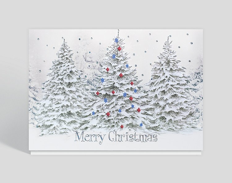 Wintry Christmas Woods Card