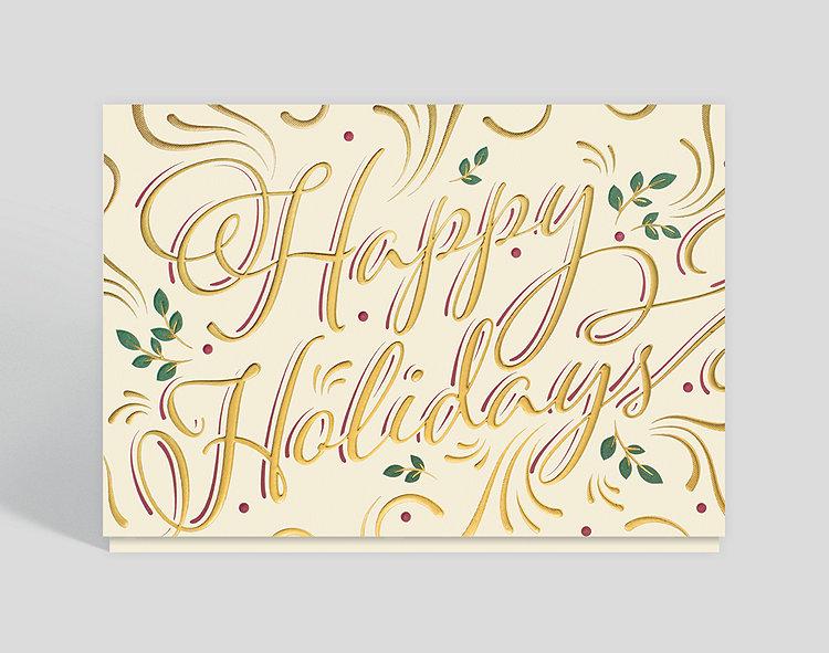 Holly Holidays Card