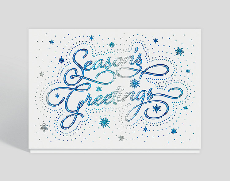 Bedazzled Season's Greetings Holiday Card