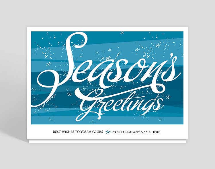 Seasons Greetings Snow Flurries Holiday Card – Christmas Cards