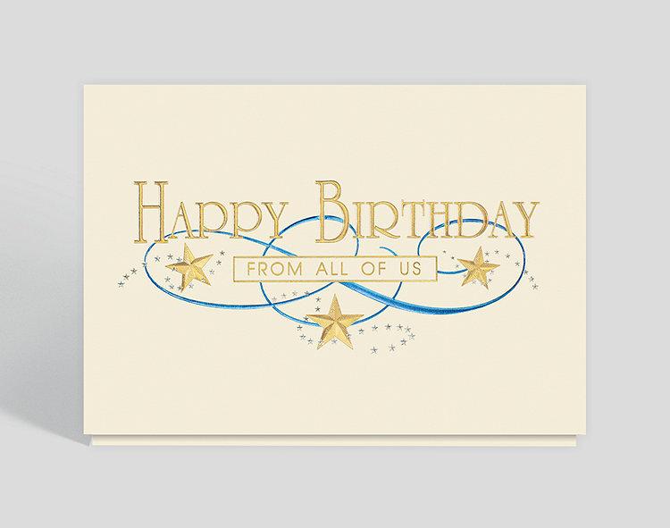 Gold Star Birthday Card – Greeting Cards