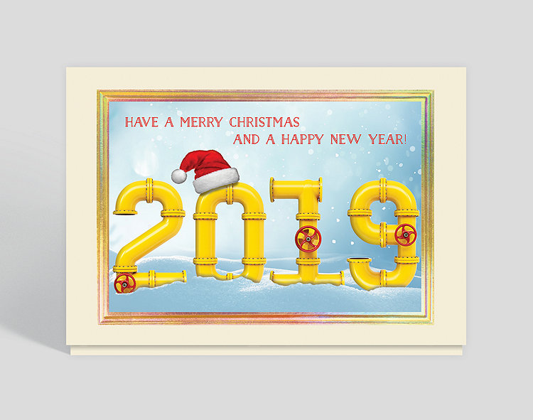 2019 Industrial New Year Card – Greeting Cards