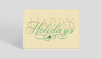 Elegant Holiday Surprise Card Business Christmas