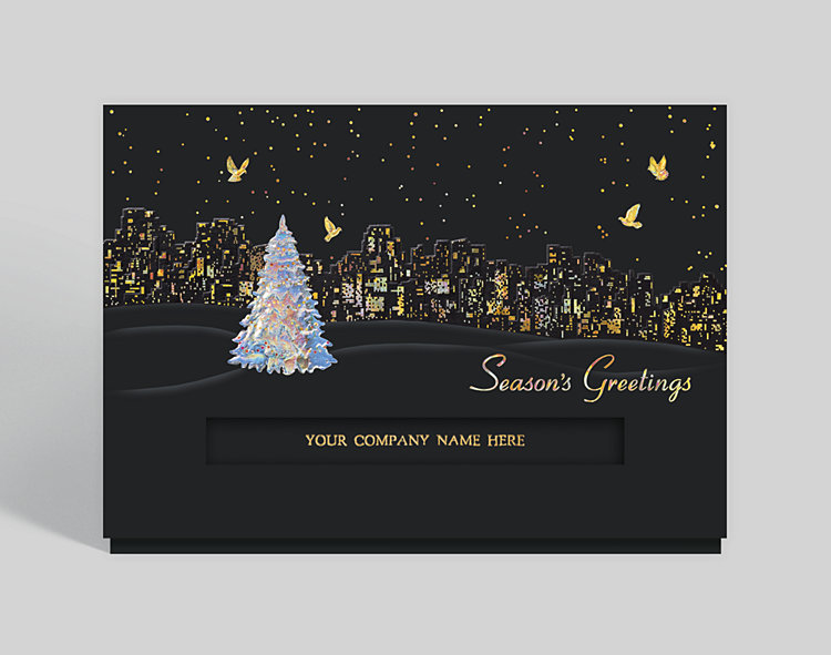 City Lights Holiday Card 302473 Business Christmas Cards