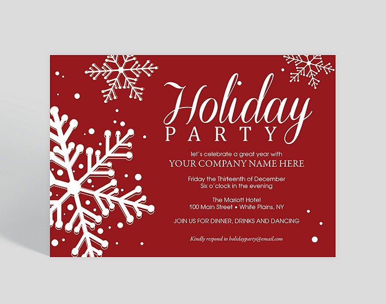 paint the town red holiday party invitation 1023717 business