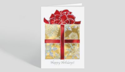 Shimmering Snowflake Trio Holiday Card 300072 Business