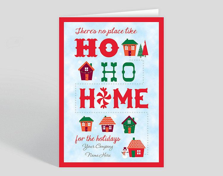 no place like home christmas card 1023577 business christmas cards