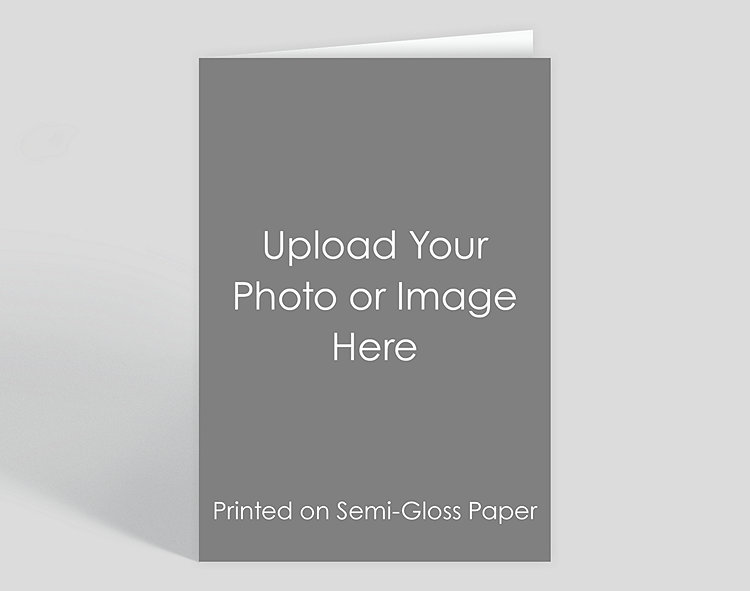 Personalized Business Christmas Cards.Full Bleed Vertical Semi Gloss Photo Card 1023649 Business Christmas Cards