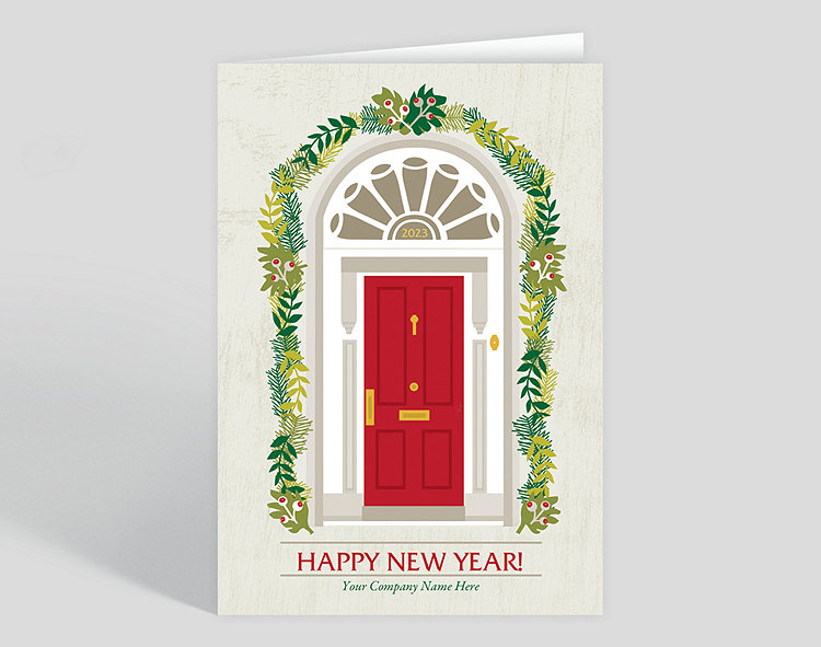 welcome new years card