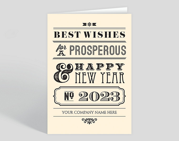 prosperous new year card click to view larger