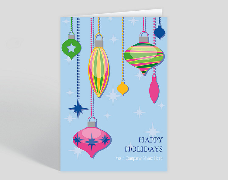 Happy Holidays Fun Ornaments - Greeting Cards