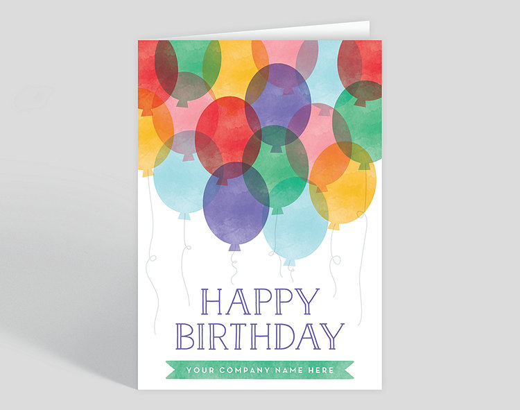 Balloon Birthday Card Click To View Larger