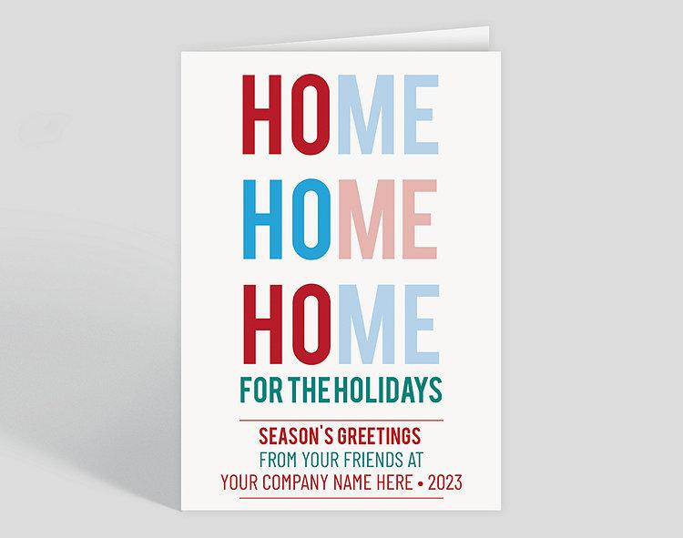 Ho Ho Home Holiday Card, 1024010 - Business Christmas Cards