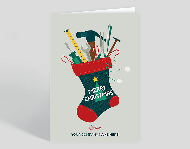 Construction Industry Christmas Cards The Gallery Collection - Card template free: golf christmas cards