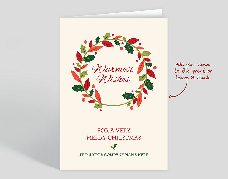Warm Wishes Wreath Christmas Card 1027993 The Gallery Collection