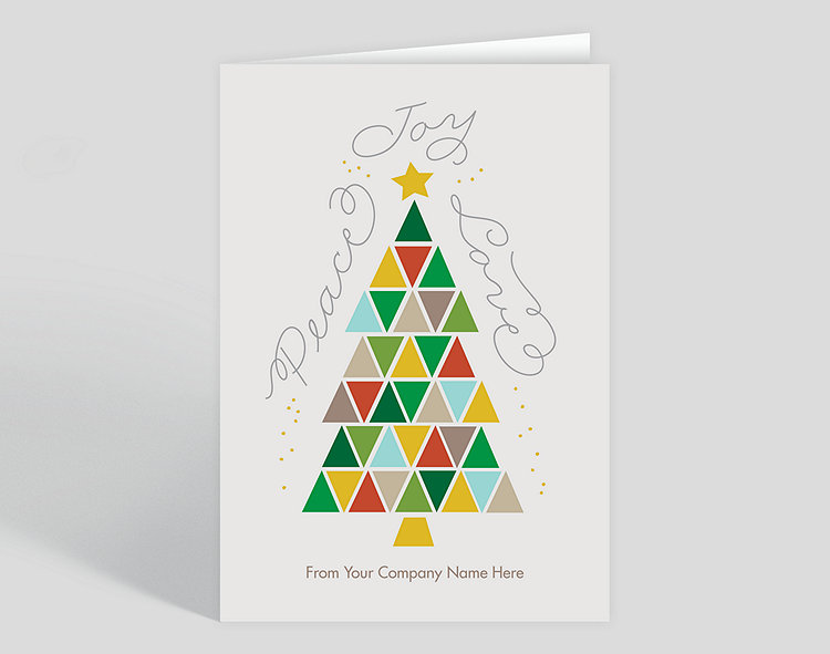triangle tree holiday christmas card 1028034 business christmas cards