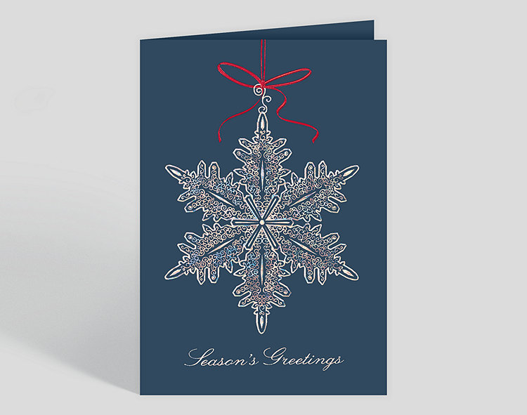 Filigree snowflake ornament holiday card 300084 business filigree snowflake ornament holiday card click to view larger m4hsunfo